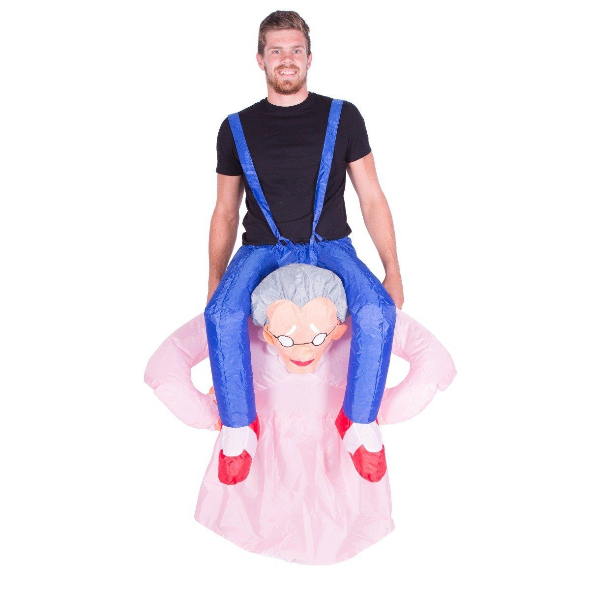 Inflatable old lady costume bodysocks uk for Gonfiabili halloween