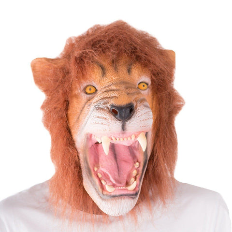 Fancy Dress - Latex Lion Mask