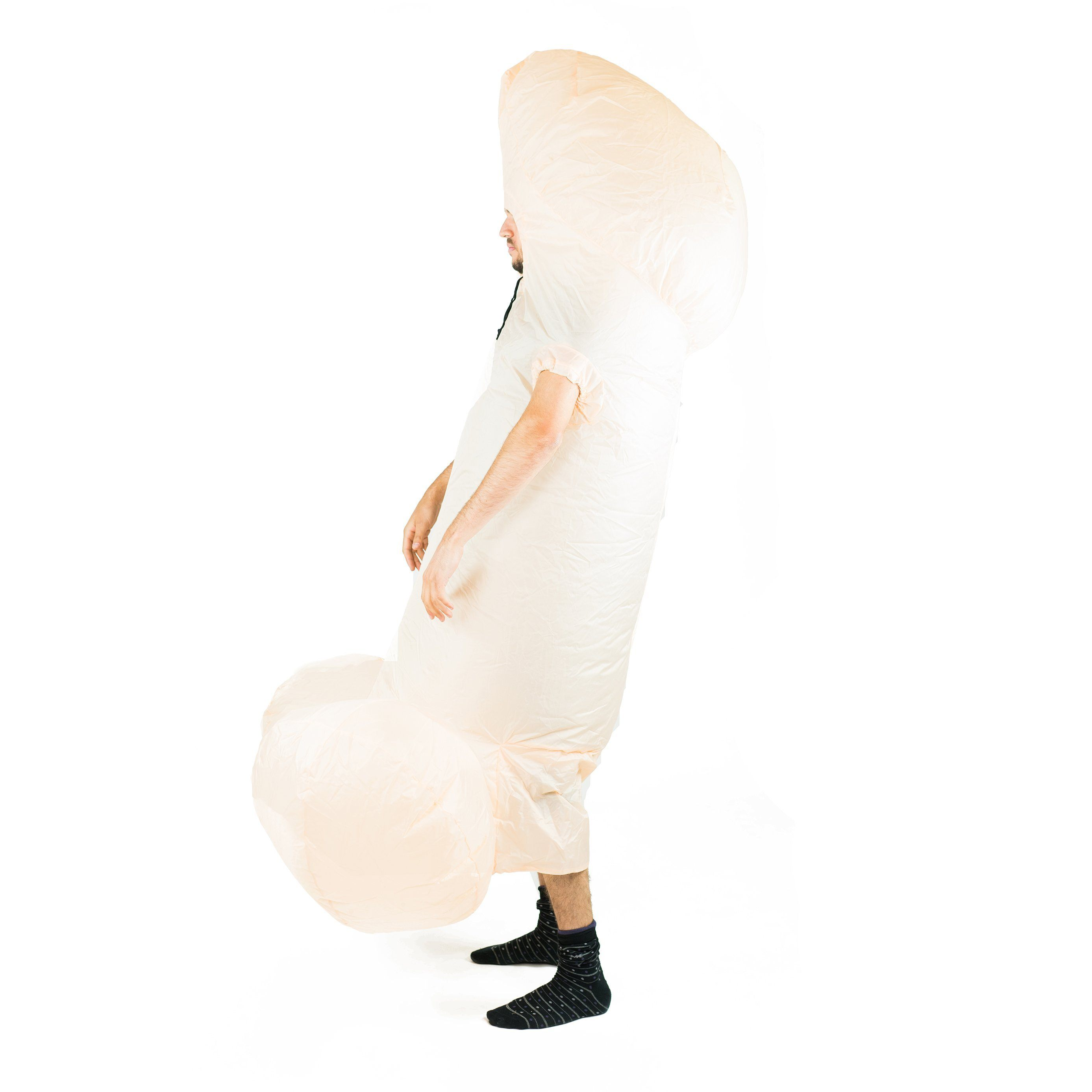 Fancy Dress - White Inflatable Willy Costume