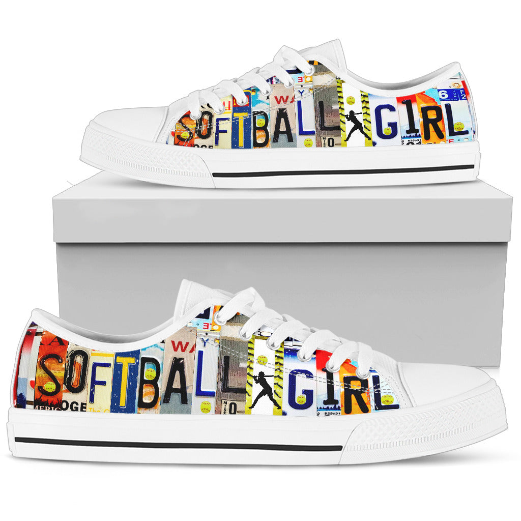 Softball Girl Low Top