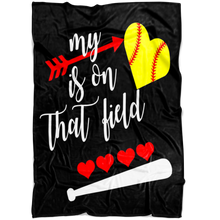 Load image into Gallery viewer, My Heart Softball Blanket