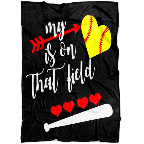 My Heart Softball Blanket
