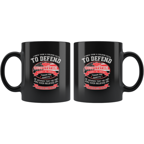 Veteran Oath Coffee Mug