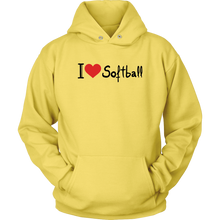 Load image into Gallery viewer, I Love Softball Hoodie