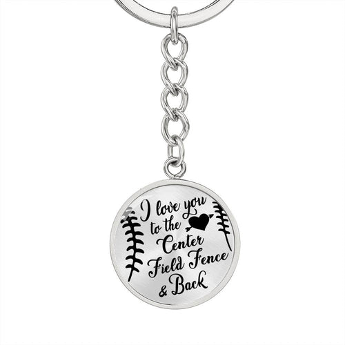Softball Graphic Circle Keychain