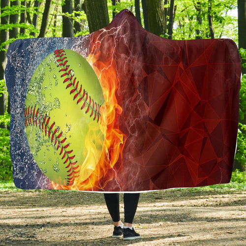 Softball Lovers Hooded Blanket