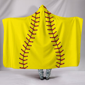 [Exclusive] Softball Hooded Blanket