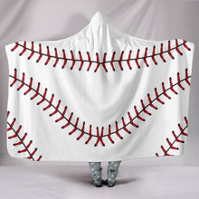Load image into Gallery viewer, Baseball Hooded Blanket 2.0