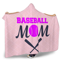 Load image into Gallery viewer, Baseball Mom Hooded Blanket