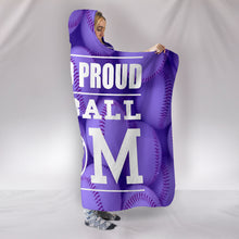 Load image into Gallery viewer, LOUD AND PROUD BASEBALL MOM HOODED BLANKET