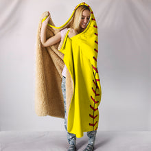 Load image into Gallery viewer, [Exclusive] Softball Hooded Blanket