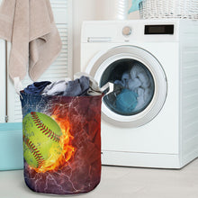 Load image into Gallery viewer, Softball Lovers Laundry Basket
