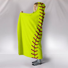Load image into Gallery viewer, Softball 2.0 Hooded Blanket