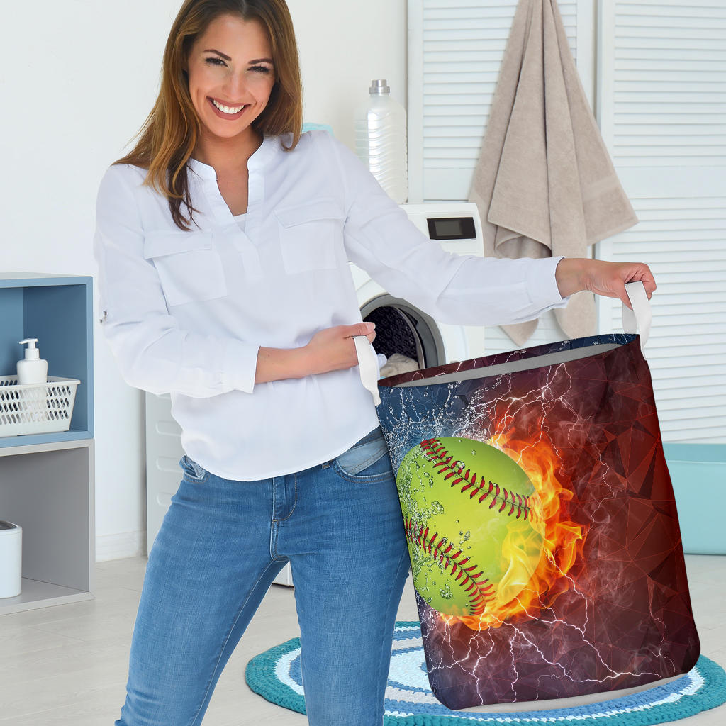Softball Lovers Laundry Basket