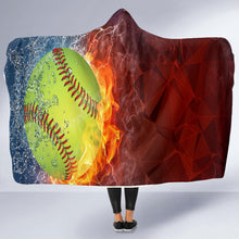 Load image into Gallery viewer, Softball Lovers Hooded Blanket