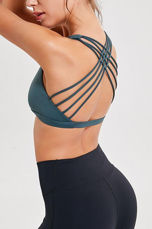 Cozy Cross Back Sports Bra