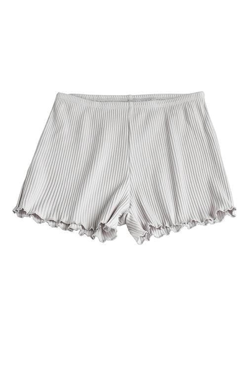 Solid Ruffles Shorts