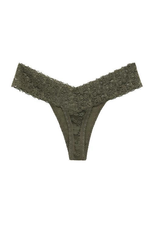 Lace Low Waist Thong