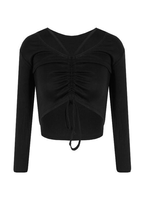 Drawstring Long Sleeve T Shirt