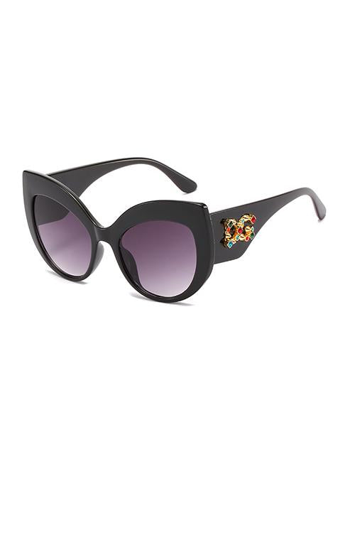 Rhinestone  Cat Eye Sunglasses