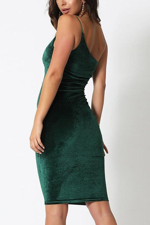 One Shoulder Slip Bodycon Dress