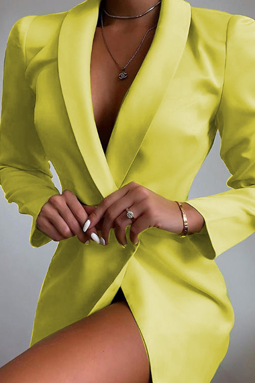 Button Lapel Blazer