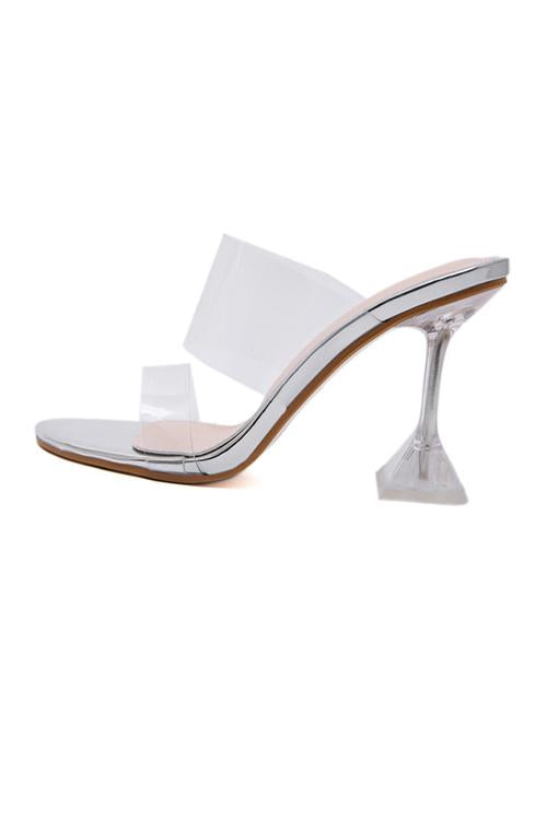 Clear High Heel Open Toe Sandals