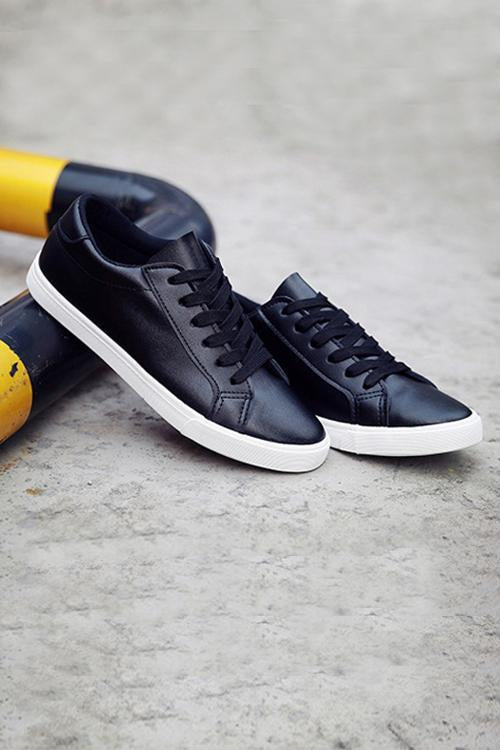 Lace Up Flat Sneaker