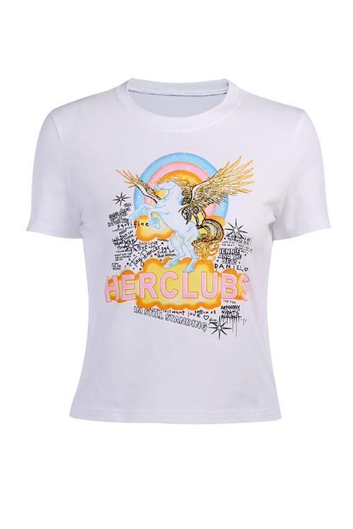 Pegasus Print Short Sleeve T Shirt