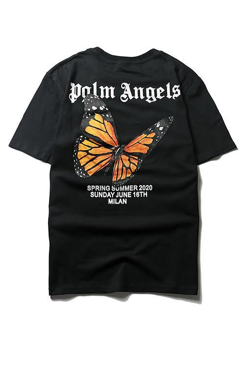 Letter Butterfly Print T Shirt