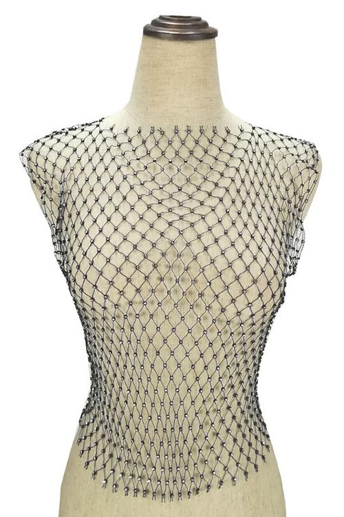 Rhinestone Fishingnet Top