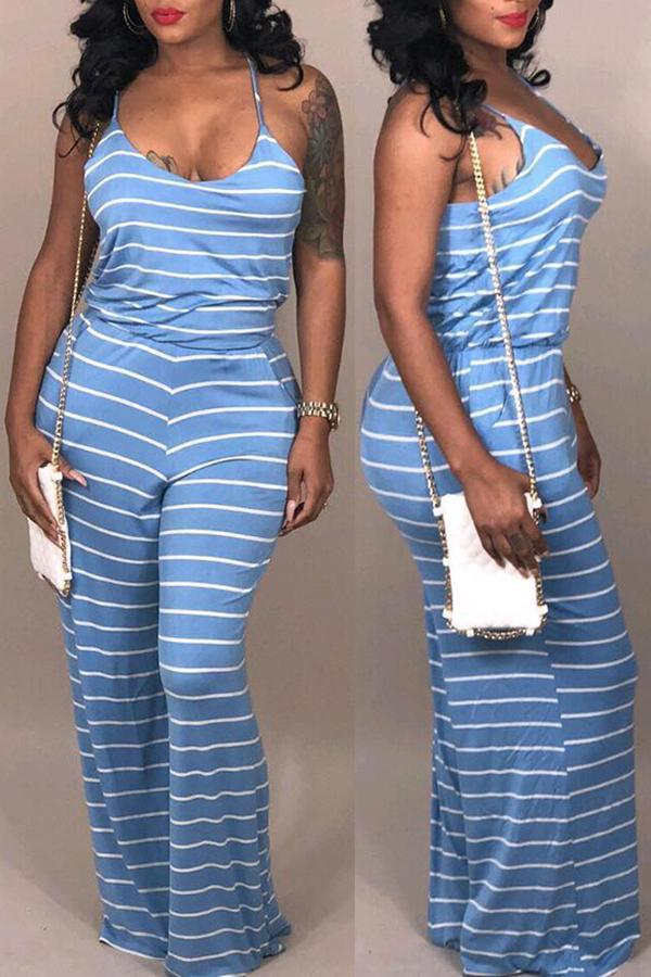 Striped Slip Jumpsuit