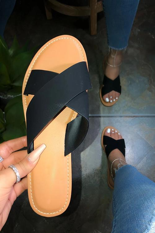 Cross Flat Slipper