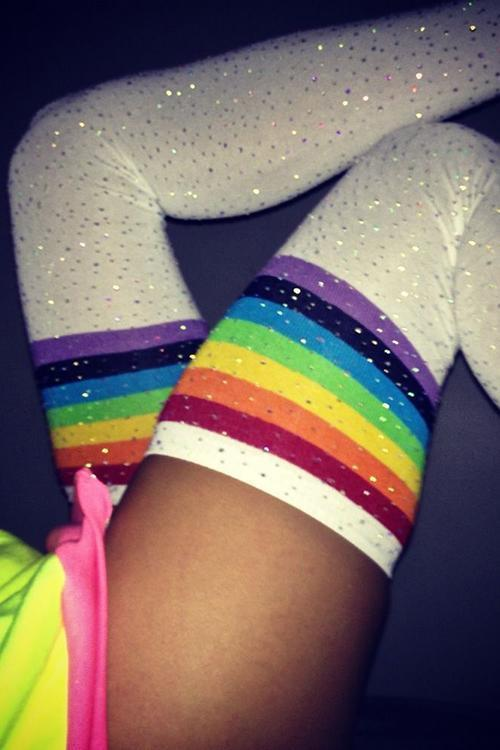 Bling Thigh High Over Knee Socks