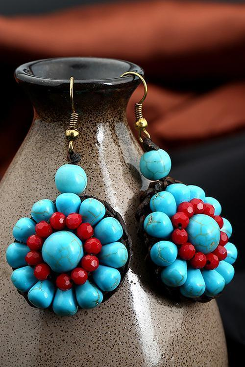 Beads Flower Earring