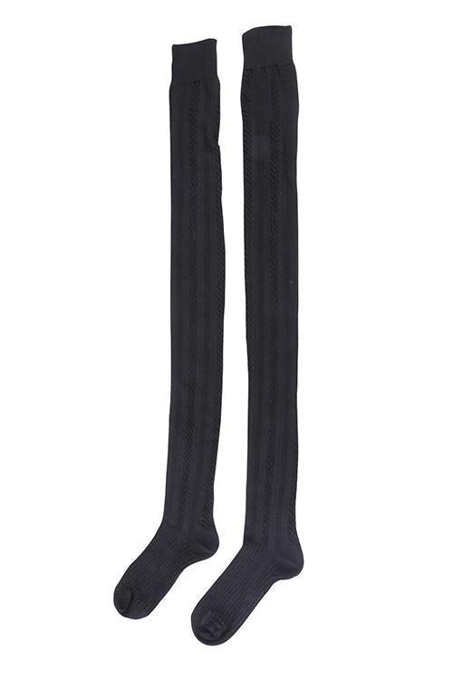 Fish Bone Over Knee High Stocking