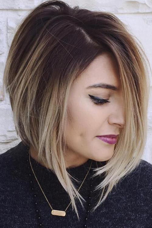 Short Straight Ombre Wig