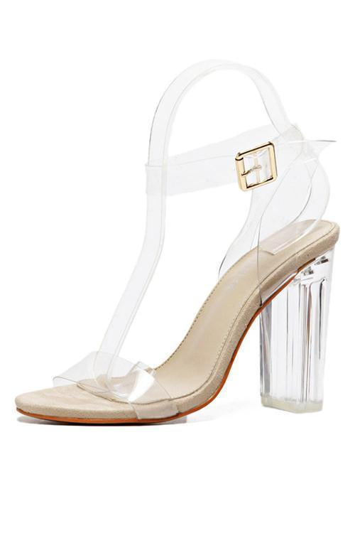 Clear High Heel Sandals