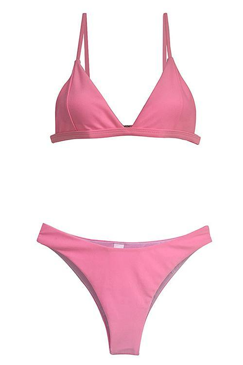 Simple Solid Bikini Set