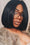 Black Middle Short Straight Wig