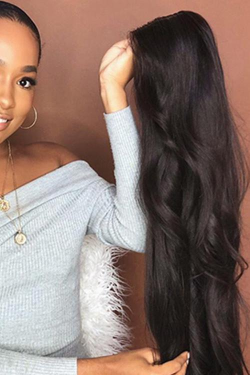 Black Realistic Split Curly Wig