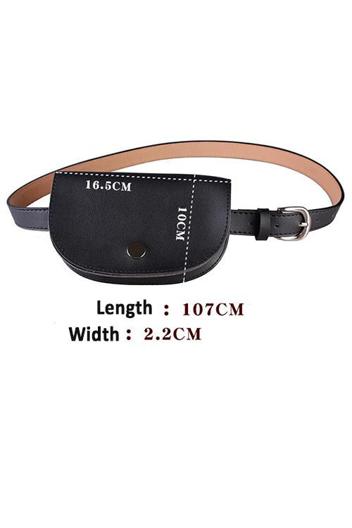 Semicircle Leather Belt Bag