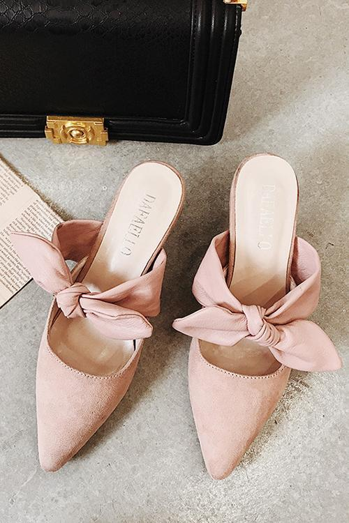 Bow Heels Mules