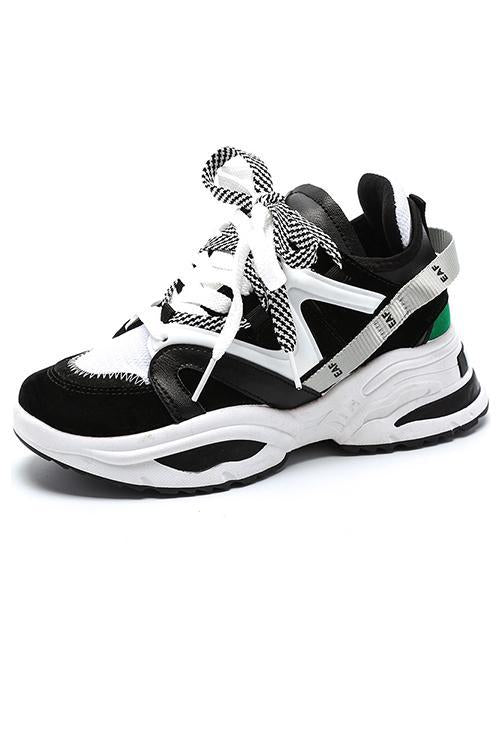 Color Block Lace Up Sneaker