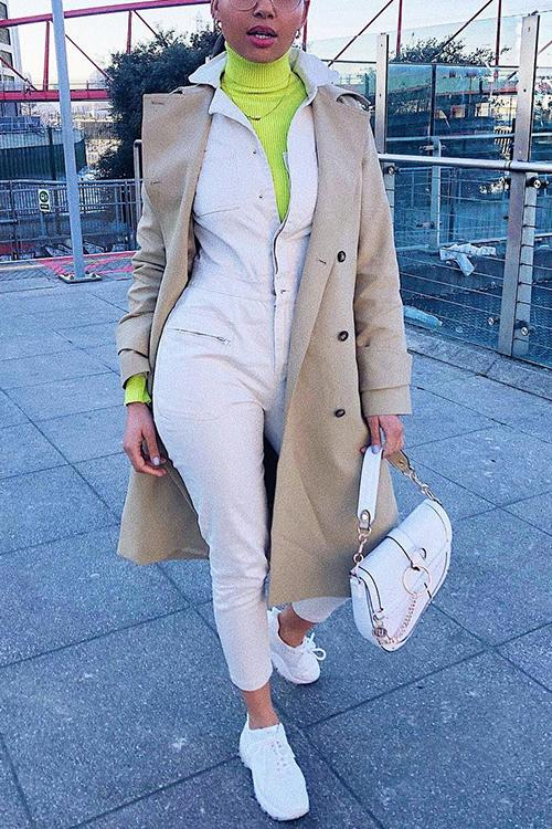 Clssical Double Breasted Trench Coat