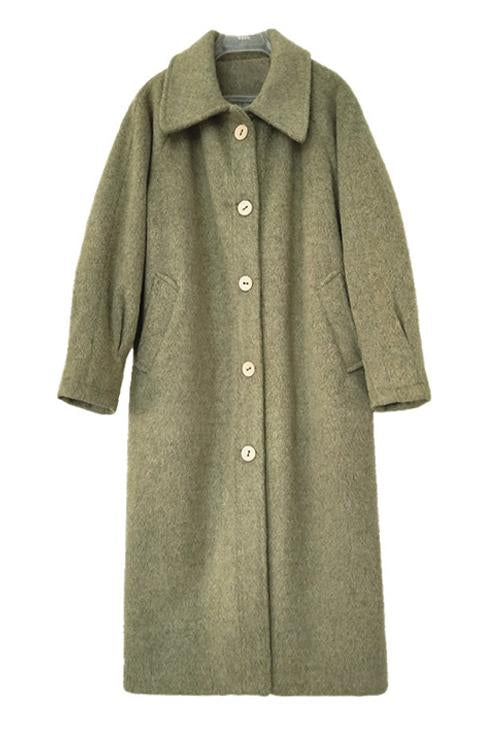 Turndown Collar Woolen Coat