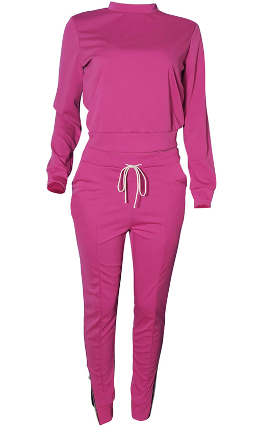 Long Sleeve Zipper Paants Set