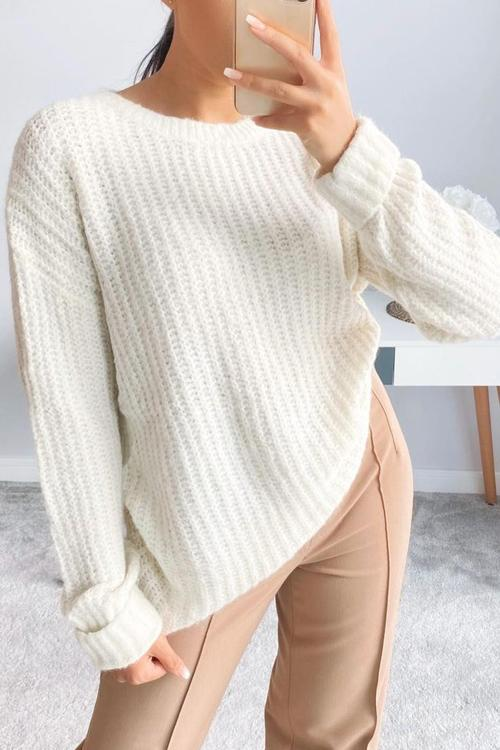 Lazy O Neck Loose Sweater