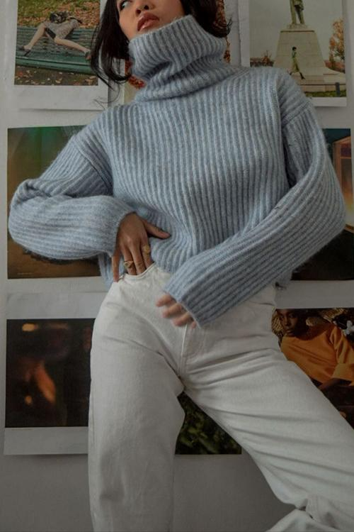 Cowl Neck Loose Sweater