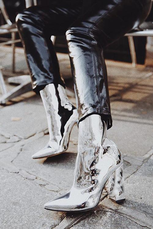 Glossy High Heel Martin Boots